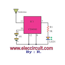 non contact ac voltage detector circuit using cd4060 non contact ac detector voltage tester using cd4060
