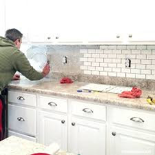 Kitchen How To Install Subway Tile Backsplash Video How To