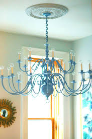 brass chandelier makeover painting a black brass chandelier makeover