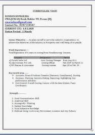 Curriculum Vitae Word Format Sample Template Example Profile Resume