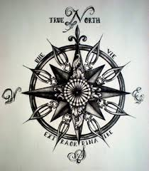 True North Compass Tattoo Design