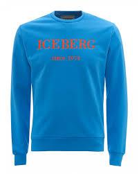 Mens Chest Logo Sweatshirt Turquoise Blue Sweat