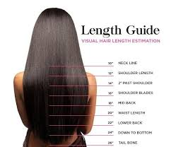 Straight Hair Length Chart What Length Hair Extensions Should I Get