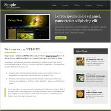 Simple Website Templates Interesting Easy Business Website Template Simple Business Website Template