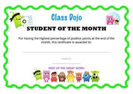 Student Of The Month Certificates Classdojo Student Of The Month Certificate By Made By Mrs C Tpt