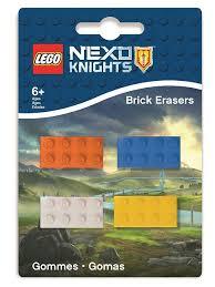 <b>Набор ластиков</b> (4 шт.) <b>LEGO</b> Nexo Knights (Рыцари Нексо) <b>Lego</b> ...