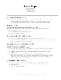 Professional Objectives For Resume Entry Level Bank Teller Resume