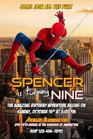 Spiderman Birthday Invitation Templates Free Spider Man Birthday Invitation Template