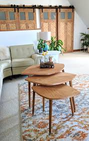 how to build these mid century modern nesting tables that look like leaves