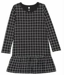 Tea Collection Size Chart Details About Tea Collection Black Grid Ruffle Dress City Grid Nwt Girls 6