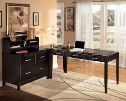 simple home office furniture. Simple Home Office Idea Featuring Black Furniture And Cream Office. At