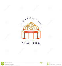 Design Sum Vector Logo Design Template And Emblem Or Badge Asian Food