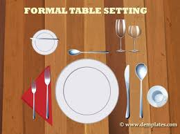 Table Setting Templates 22 Place Setting Templates Format Printable Diagrams