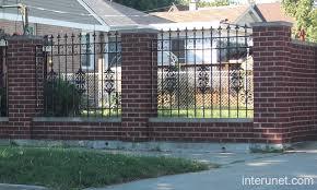 wrought iron fence brick. Brick-fence-ornamental-iron Wrought Iron Fence Brick