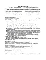 Property Manager Resume Best Business Template