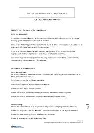 event manager job description 30052017 housekeeping job duties
