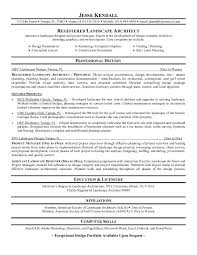 sample resume architecture resume example