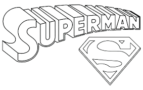 Super Hero Symbol Coloring Pages Library O Superman Logo Awesome