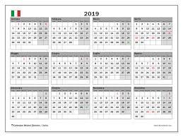 Calendario 2019 Italia Michel Zbinden It