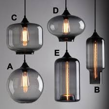 excellent smoked glass pendant light as modern industrial smoky grey glass shade loft cafe pendant light