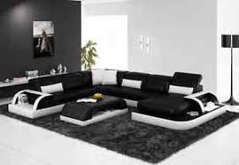 modern leather sofa. Brilliant Modern Image Is Loading ModernLargeLEATHERSOFACornerSuiteBlackModular And Modern Leather Sofa