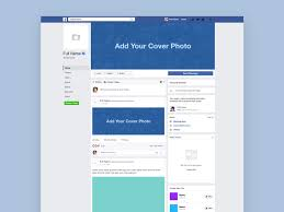 facebook page layout template