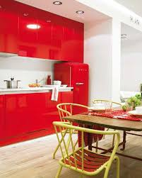 kitchen color ideas red. Contemporary Kitchen Design In White And Red Colors Color Ideas
