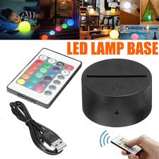 Led Lamp Bases For 3d Led Night Light Abs Acrylic Black 3d Led Lamp Night Light Base Toughusb