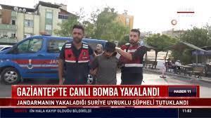 Gaziantep' te canlı bomba yakalandı