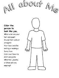 Small Picture All About Me Coloring Pages All About Me Me Page nebulosabarcom