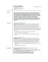 Sample Resume For Elementary Teachers Elementary Teacher Resume