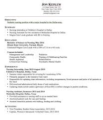 Resume Pediatric Nurse Pin On Example Resume Cv