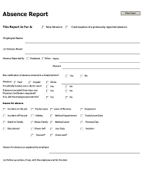 Employee Absent 9 Absence Report Templates Pdf Word Free Premium