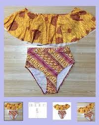Fabric Days Of The Week Chart 2 Piece Swimsuit Terra Maya Bikinis Yellow None Casual Mixed Print Fabric Textile The Beautiful Days