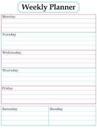homework planner template pdf weekly planner template printable free printable planner template