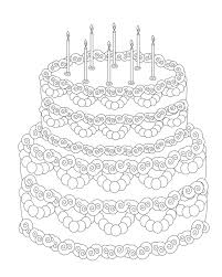 Free Coloring Pages Of T Cake