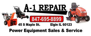 lawn mower repair logo. a-1 repair elgin il 60123 lawn mower logo l