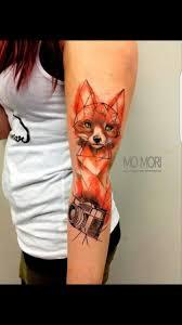 Abstract Fox Tattoo Fox Tattoo Foxtattoo Tattoos идеи для