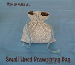 drawstring bag tutorial this tutorial shows how to make a small lined