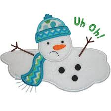 Image result for cartoon image melting snowman