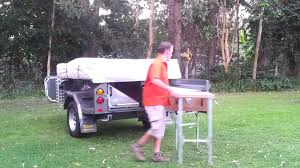 Camper Trailer Kitchen Custom Camper Trailer Kitchen Setup Youtube