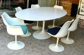 vintage tulip dining table for knoll at round nz