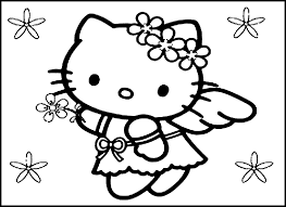 Unique Hello Kitty Princess Coloring Pages Collection Printable