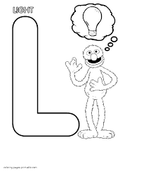 Coloring Pages Sesame Street Alphabet Grover And The Letter L
