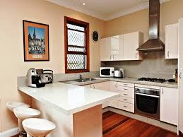 image of top small u shaped kitchen design