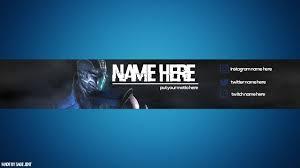 youtube gaming channel art. Modren Channel YouTube Gaming BannerChannel Art Template  Blue In Youtube Channel B