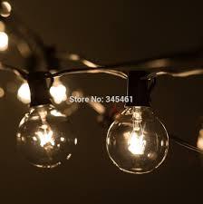 Black Outdoor String Lights 50ft Globe String Lights G50 50 Clear Globe Bulbs 220 110v