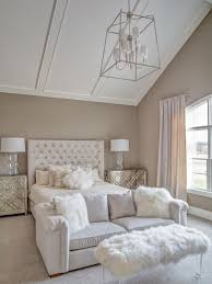 Design ideas for a large traditional master bedroom in Cleveland with grey  walls, carpet and