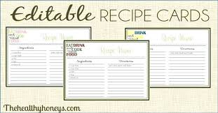 Index Card Recipe Template 5 X 7 Index Cards Novostnoj