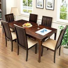 dining table with six chairs. full image for 6 seater wooden dining table with glass top elmond six chairs
